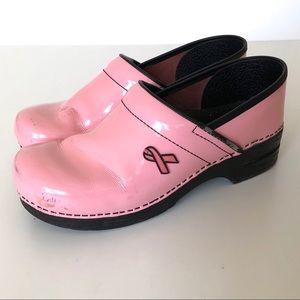 Dansko Pink Breast Cancer Awareness Clogs